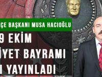 CHP Akçaabat İlçe Başkanı Musa Hacıoğlu'nun 29 Ekim Cumhuriyet Bayramı Mesajı