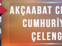 Akçaabat  CHP'den Cumhuriyet Çelengi