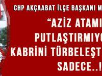 CHP Akçaabat Yönetimi 10 Kasım'da Atatürk Anıtına Çelenk Sundu