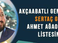 Akçaabatlı Genç İş Adamı Sertaç Güven Ahmet Ağaoğlu'nun Listesinde!