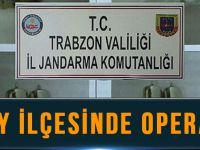 Jandarma Ekiplerinden Düzköy'de Operasyon.