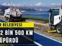 Büyükşehir Belediyesi Bir Yılda 82 Bin 500 Km Yol Süpürdü