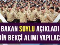 Bakan Soylu: Mart Ayında 8 Bin Bekçi Alınacak