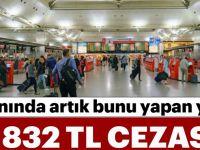 Havalimanında Bunu Yapana 2 Bin 832 TL Ceza!