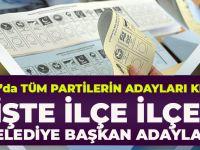 Kesinleşen Listelere Göre Trabzon'da Siyasi Partilerin Belediye Başkan Adayları Şunlar: