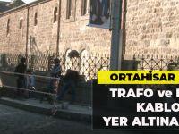 Büyükşehir Belediyesi Trafo ve Elektrik Kablolarını Yer Altına Aldı!