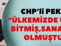 CHP'li Pekşen: Ülkemizde Üretim Bitmiş, Sanayi Yok Olmuştur!