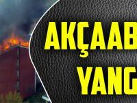Akçaabat'ta Bir Binada Yangın Çıktı