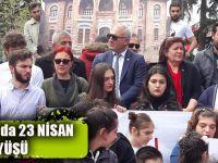 CHP Trabzon İl Başkanlığı 23 Nisan Yürüyüşü Gerçekleştirdi.