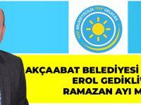 İYİ Parti Akçaabat Belediye Meclis Üyesi Erol Gedikli 'den Ramazan Ayı Mesajı