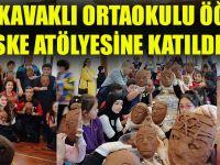 Akçaabat Kavaklı Ortaokulu Öğrencileri, Maske Yapımı Atölyesine Katıldılar.