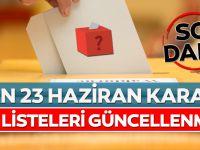 YSK'dan 23 Haziran Seçimi Kararı