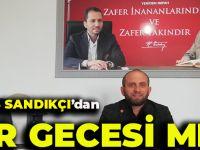 Yeniden Refah Partisi Akçaabat İlçe Başkanı Barış SANDIKCI'dan Kadir Gecesi Mesajı.