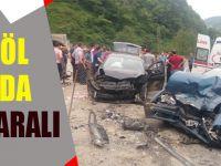 Uzungöl Yolunda Kaza: 3 Yaralı