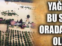 Sağanak Ev Ve Tarım Arazilerini Su Altında Bıraktı