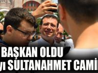İkinci Kez Başkan Oldu İlk Cuma'yı Sultanahmet Camii'nde Kıldı
