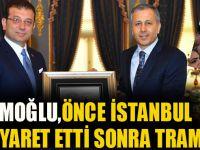 Önce İstanbul Valisi'ni Ziyaret Etti Sonra Tramvaya Binip Halkla Buluştu