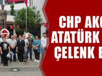 CHP Akçaabat, Atatürk Anıtı'na Çelenk Bıraktı!