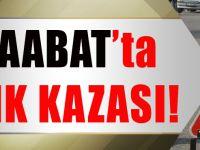 Akçaabat'ta Trafik Kazası: 1 Yaralı
