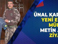 Trabzon'un Yeni Emniyet Müdürü Alper'e Karaman'dan Ziyaret