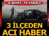 Akçakale Ve Nusaybin'den Acı Haber! 6 Şehit, 70 Yaralı