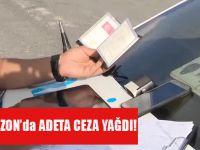 Trabzon'da Yapılan Trafik Denetimlerinde Adeta Ceza Yağdı