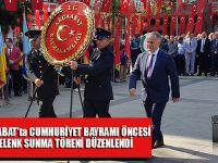 Akçaabat'ta Cumhuriyet Bayramı Öncesi Çelenk Sunma Programı Düzenlendi