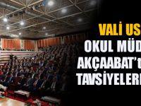 Vali İsmail Ustaoğlu, Okul Müdürleriyle Akçaabat'ta Buluştu, Tavsiyelerde Bulundu