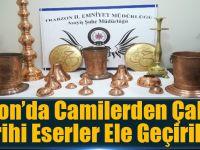 Trabzon'da Camilerden Çalınan Tarihi Eserler Ele Geçirildi