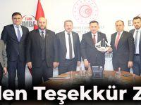 Doğu  Karadeniz İhracatçılar Birliği Yönetiminden Eximbank Genel Müdürlüğüne Teşekkür Ziyareti