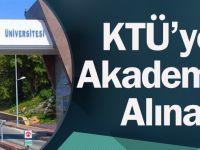 KTÜ'ye 97 Akademisyen Alınacak