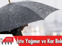 İşte Yağmur Ve Kar Beklenen İller…