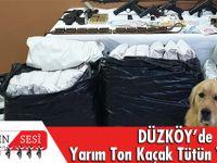 Düzköy'de Yarım Ton Kaçak Tütün Yakalandı!