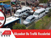 Akçaabat'ın Merkezinde Trafik Rezaleti Yaşanıyor