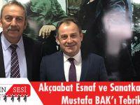 Akçaabat Esnaf Ve Sanatkârlar Odası, Mustafa Bak'ı Tebrik Etti