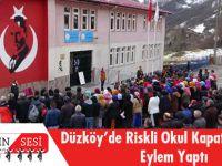 Düzköy'de Riskli Okul Kapatıldı, Veliler Eylem Yaptı