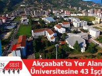 Akçaabat'ta Yer Alan Trabzon Üniversitesine 43 İşçi Alınacak