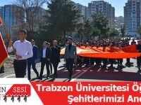 Trabzon Üniversitesi Öğrencileri Şehitlerimizi Andı !!