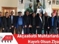 Akçaabatlı Muhtarlardan CHP'ye Hayırlı Olsun Ziyareti!