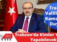 Trabzon'da Kimler Yolculuk Yapabilecek!