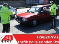 Trabzon'da Trafik Polislerinden Özel Denetim
