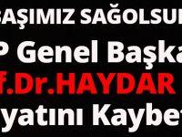 BTP Genel Başkanı Prof.Dr. Haydar Baş Koronavirüs Nedeniyle Hayatını Kaybetti.