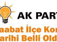 AK Parti Akçaabat İlçe Kongre Tarihi Belli Oldu!