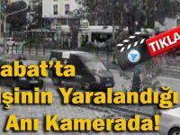 Akçaabat'ta İki Kişinin Yaralandığı Kaza Anı Kamerada