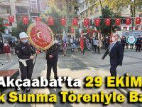 Akçaabat'ta 29 Ekim Çelenk Sunma Töreni İle Başladı