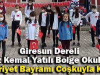 Dereli Yavuz Kemal Yatılı Bölge Okulunda Cumhuriyet Bayramı Coşkuyla Kutlandı