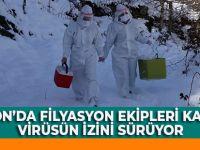 Trabzon'da Filyasyon Ekipleri Karda Da Virüsün İzini Sürüyor
