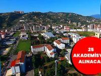 Trabzon Üniversitesine 25 Akademisyen Alınacak