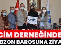UCİM Derneğinden Trabzon Barosuna Ziyaret