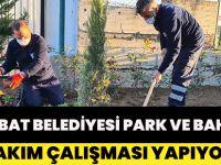 Akçaabat Belediyesi Park Ve Bahçelere Bakım Çalışması Yapıyor